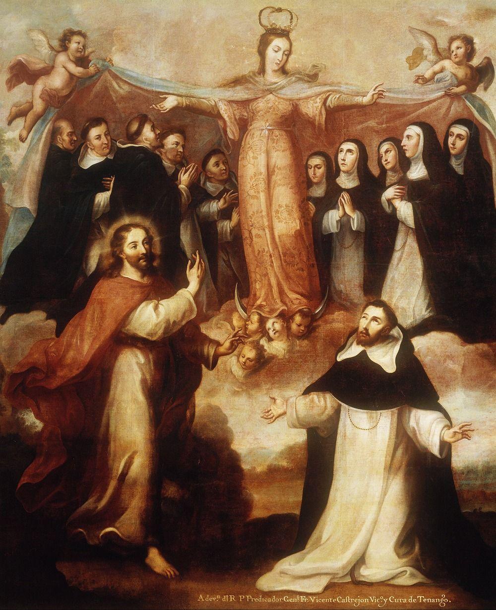 "jaded-mandarin: "" Miguel Cabrera. Allegory of the Virgin Patroness of the Dominicans. """