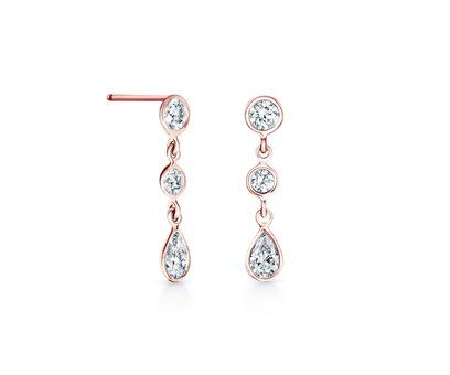 De Beers Clea Pink Gold Drop Earrings £1475