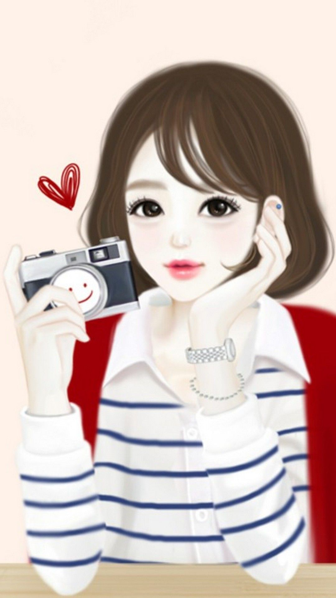 Cute Drawings Wallpaper For Phone Hd With Images Cute Girl