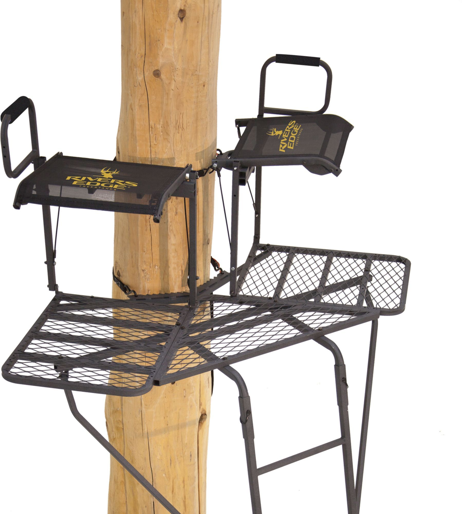 6ec601a450a Rivers Edge Bowman 2-Person 19  Ladder Stand