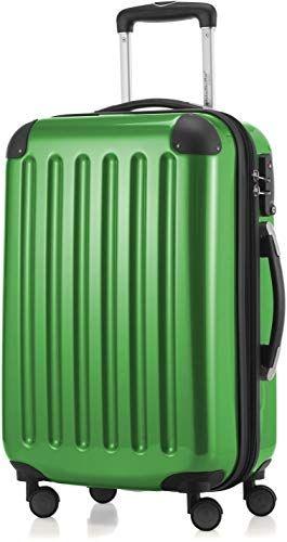Buy HAUPTSTADTKOFFER - Alex - Carry  luggage On-Board Suitcase Bag Hardside Spinner Trolley 4 Wheel Expandable, 55cm, TSA, green online - Alllovelyclothing #handluggage