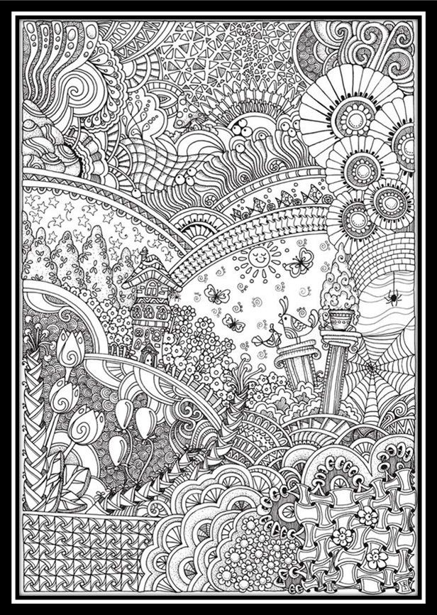 dibujos-de-paisajes-para-colorear-e-imprimir | ColoreARTE ...