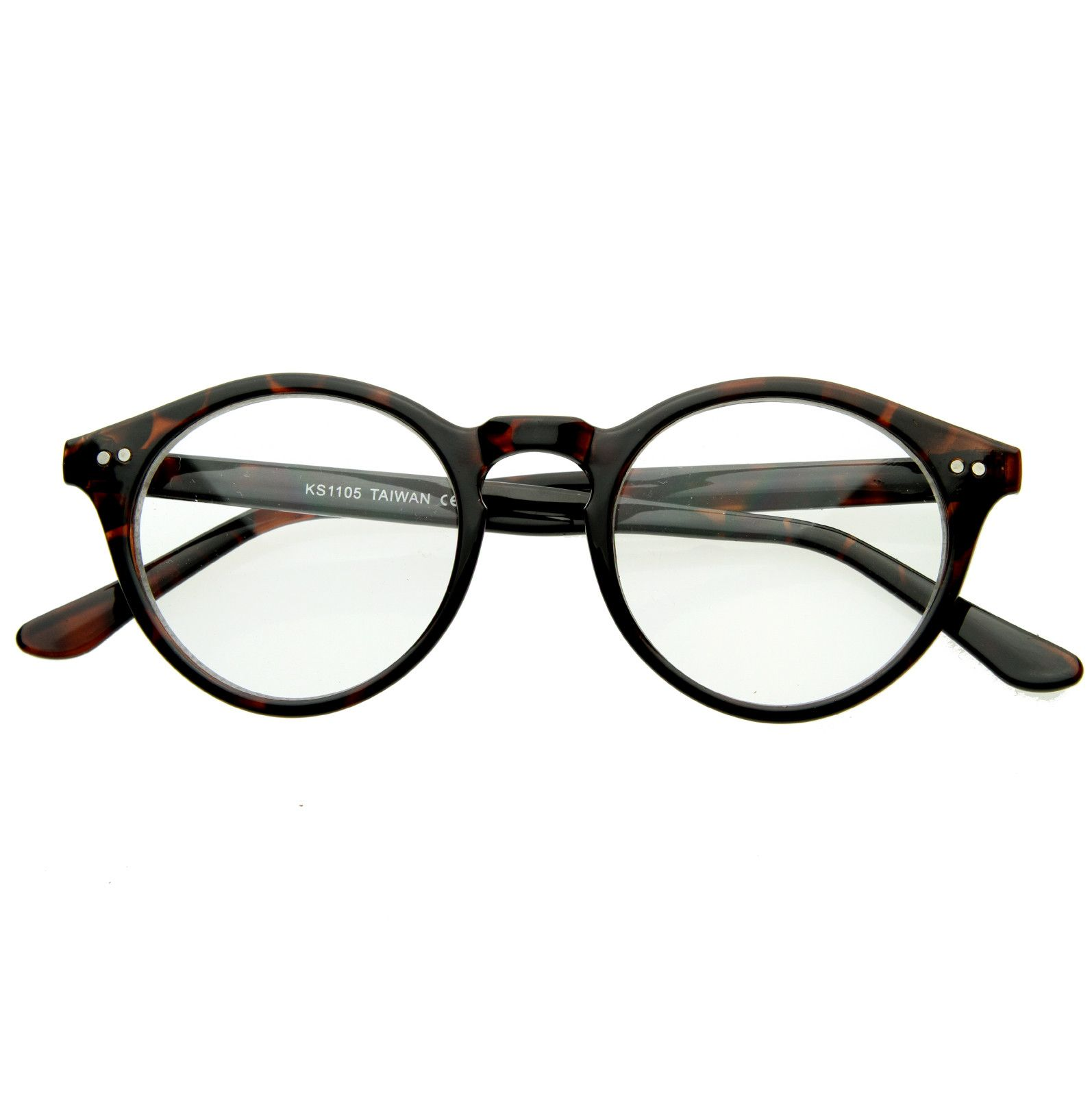 5314a3ff67 Vintage European Clear Lens Small Round Glasses 8403 from zeroUV