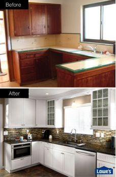 Kitchen Remodel And Flooring Projects At Lowe S Kitchen Remodel Home Kitchens Kitchen Design