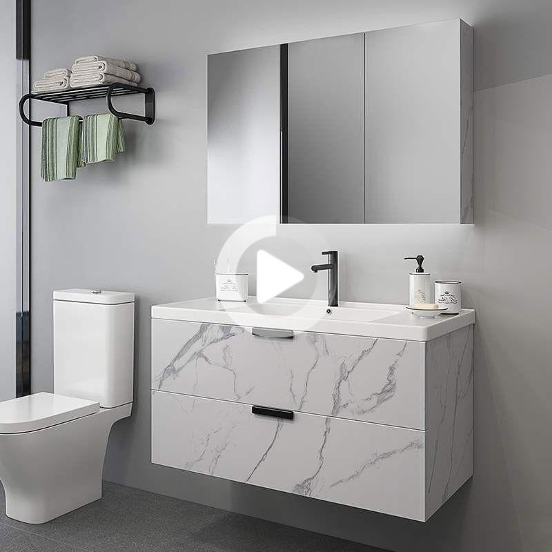 From 349 99 24 Floating Bathroom Vanity Wall Mount Single Sink Vanity With Drawers Floating Bathroom Vanities Bathroom Interior Design Unique Bathroom Vanity