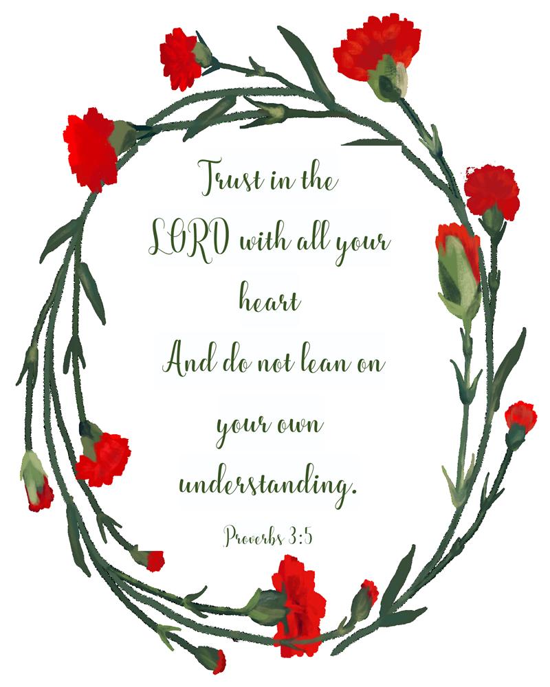 2018 年の proverbs 3 5 trust in the lord with all your heart