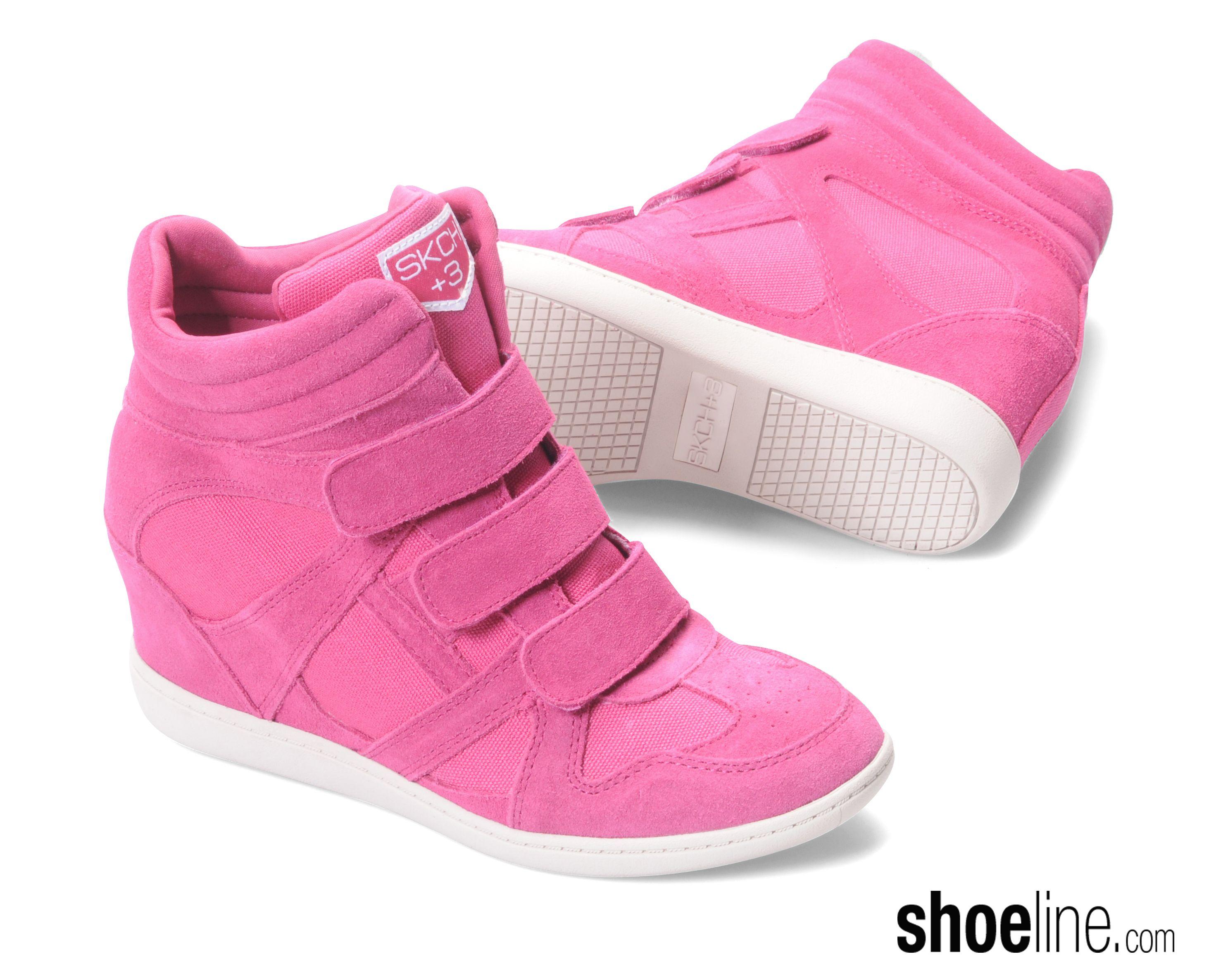 skechers high heel tennis shoes