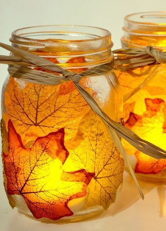 10 DIY Fall Decor Ideas - Leaf Motif Ideas to Decorate Your Home | Decorated Life