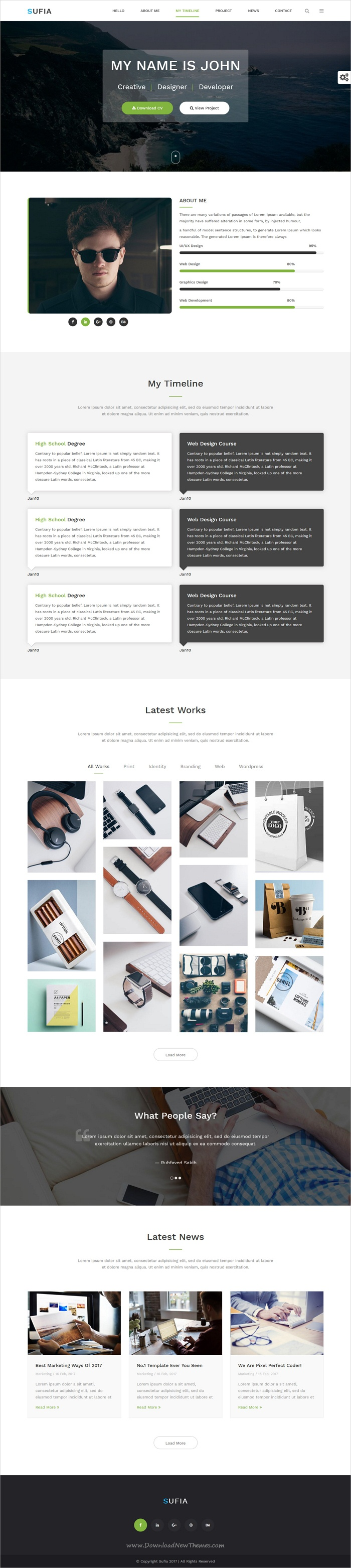 Sufia - Responsive Multipurpose HTML5 Template | Modern, Corporate ...