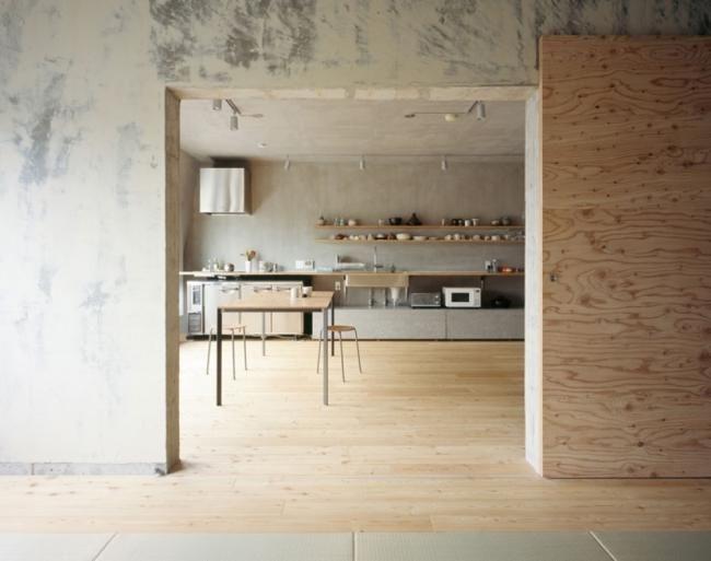 Sperrholz Einrichtung Beton Küche Setagaya Flat Naruse Inokuma