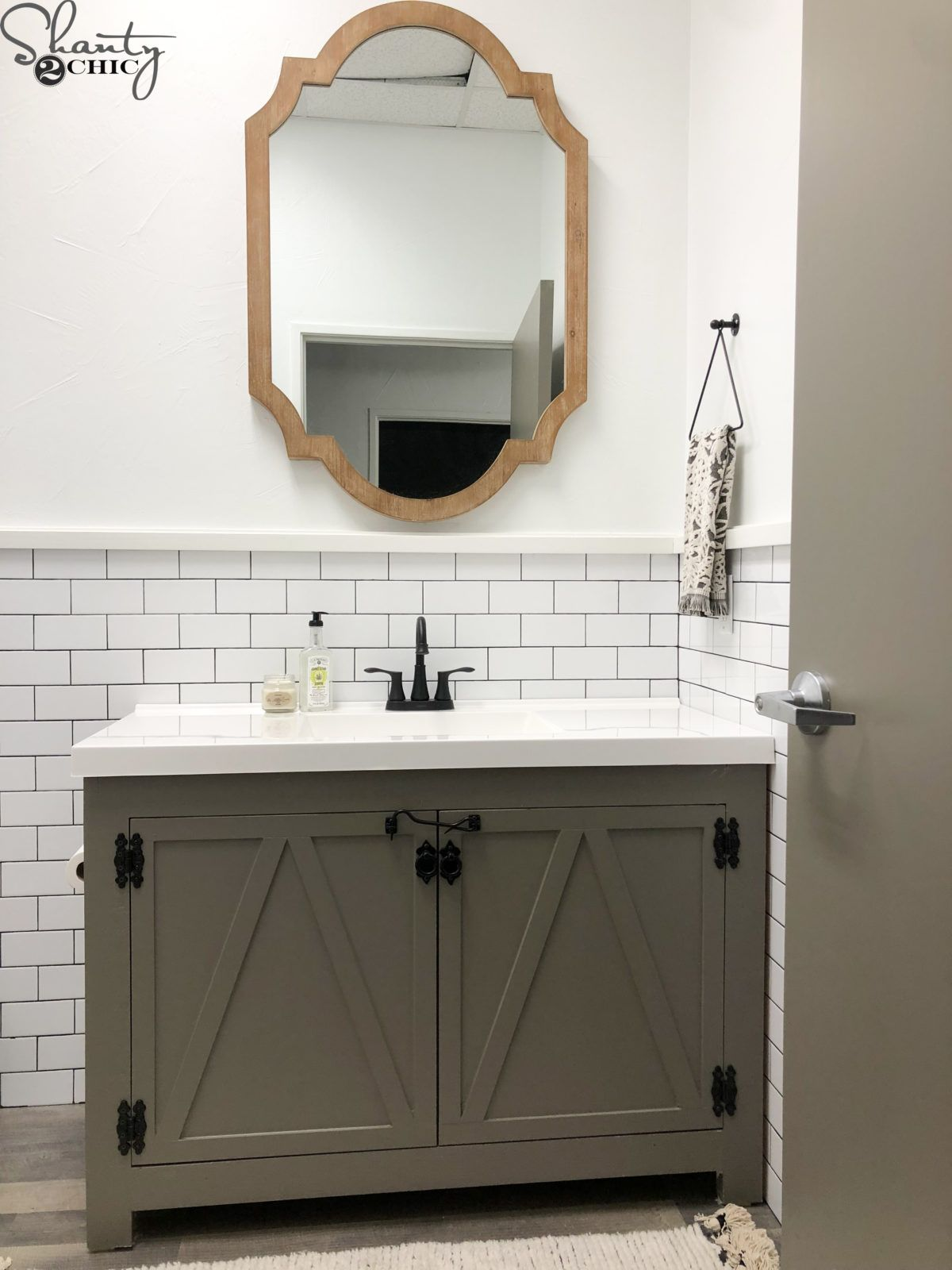 DIY Farmhouse Bathroom Vanity images
