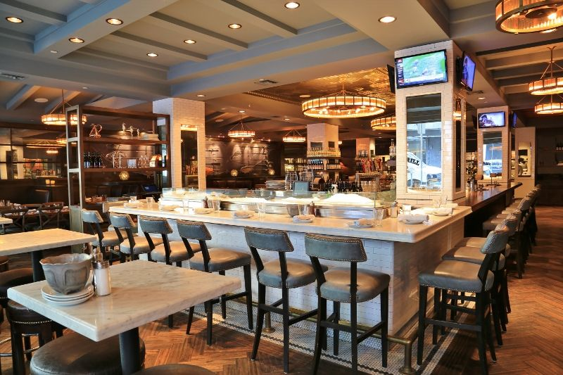 Raw Bar Or Oyster Bar Design Water Grill Los Angeles Bar Design Restaurant Bar Design Restaurant Design