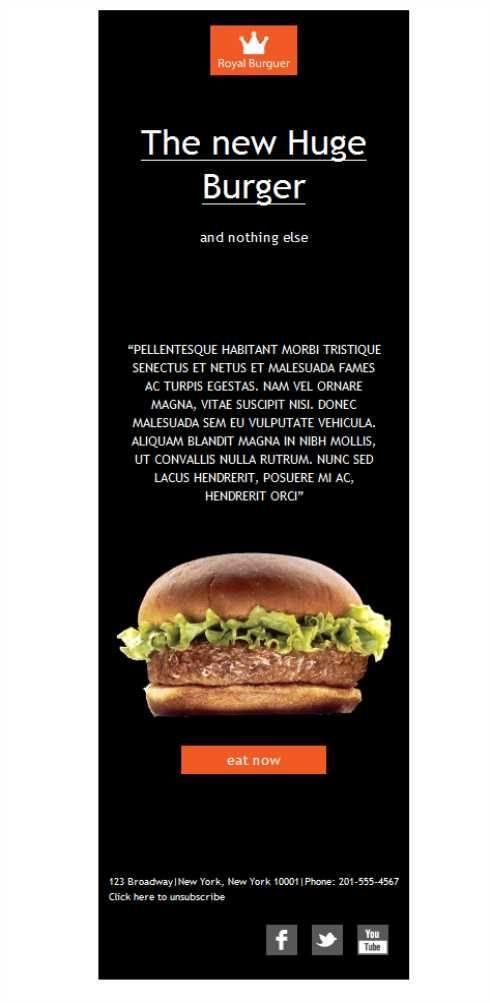 ¿Qué te parece esta plantilla para tu negocio de comida rápida? Tus hamburguesas gourmet  nunca se verán mejor con este diseño. Plantilla disponible también en versión desktop.