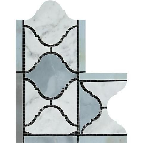 Best Carrara White Marble Polished Lantern Border Corner W 640 x 480