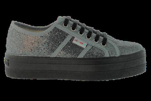 differently ae53b 41fac Blucher Glitter Plataforma Antracita (09203)   Zapatillas Victoria.  Encuentra este Pin y muchos más en Shoes ...