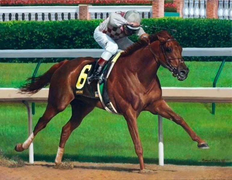 Funny Cide Wins The 2003 Kentucky Derby Racehorses Pinterest