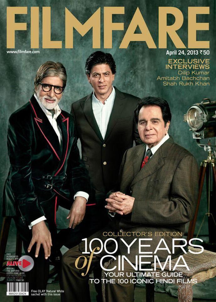 Amitabh Bachchan, Shahrukh Khan and Dilip Kumar on the
