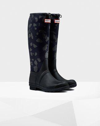 Botas de agua HUNTER Womens Original Terrazzo Black