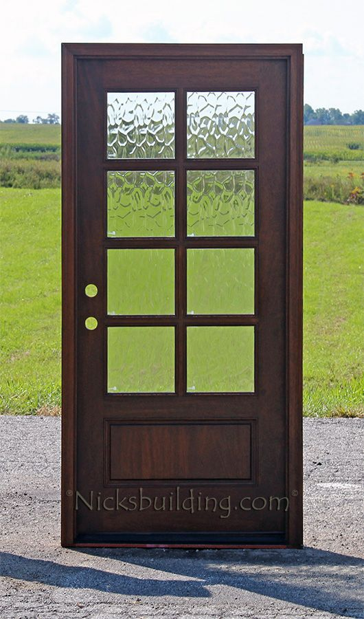 Exterior Doors With Dovided Lites 8lite Mahogany Flemish Glass