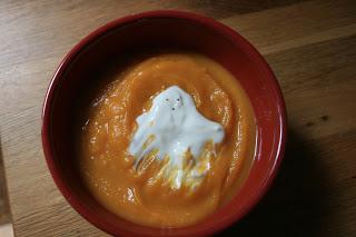 Butternut Squash Soup with Creme Fraiche Ghost
