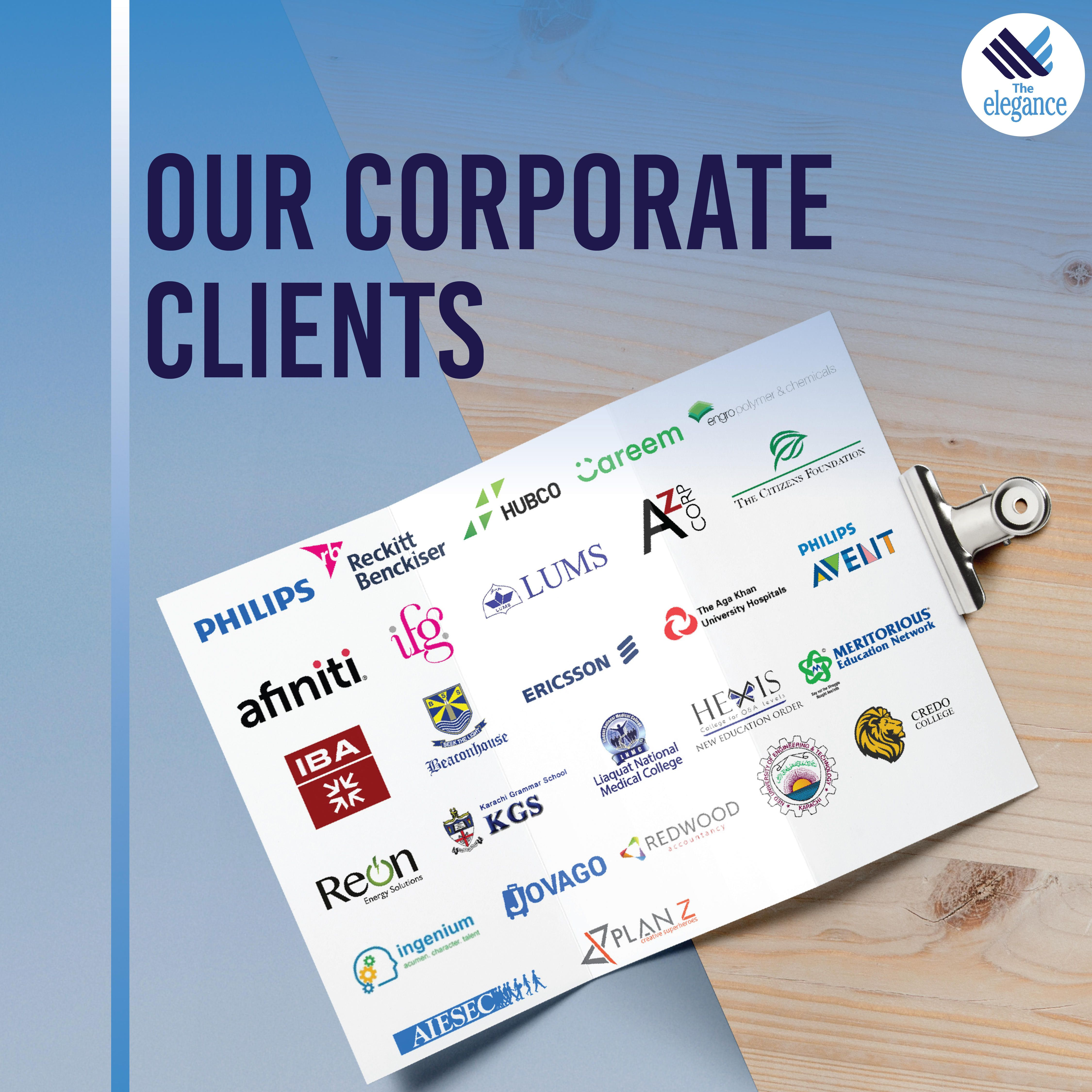 We Are Proud To Have A Strong Portfolio Of Corporate