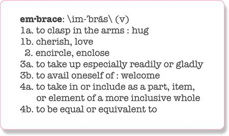 Image result for embrace definition