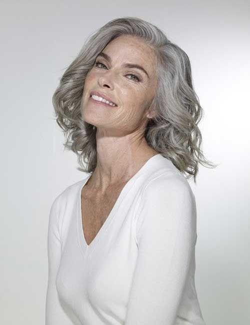 Tolle Kurze Haarschnitte für Ältere Damen | silver | Grey ...