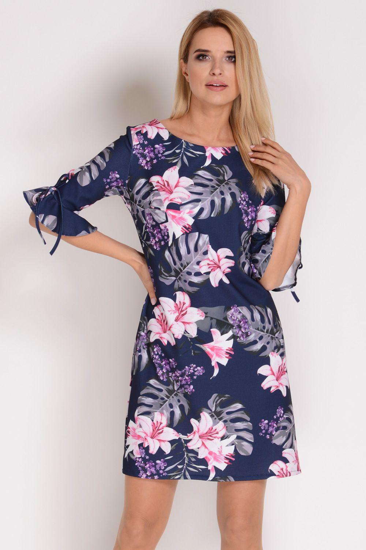e8683515271404 AVARO Stylowa sukienka w kwiaty SU-1332 | Inspirujące sukienki w ...