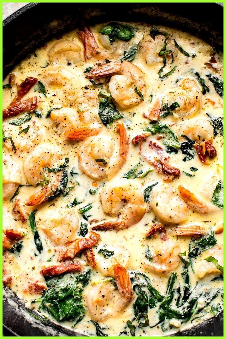 Cremige Knoblauchbutter toskanische Garnelen – ein schnelles und einfaches Abendessen unter d… #Aben...