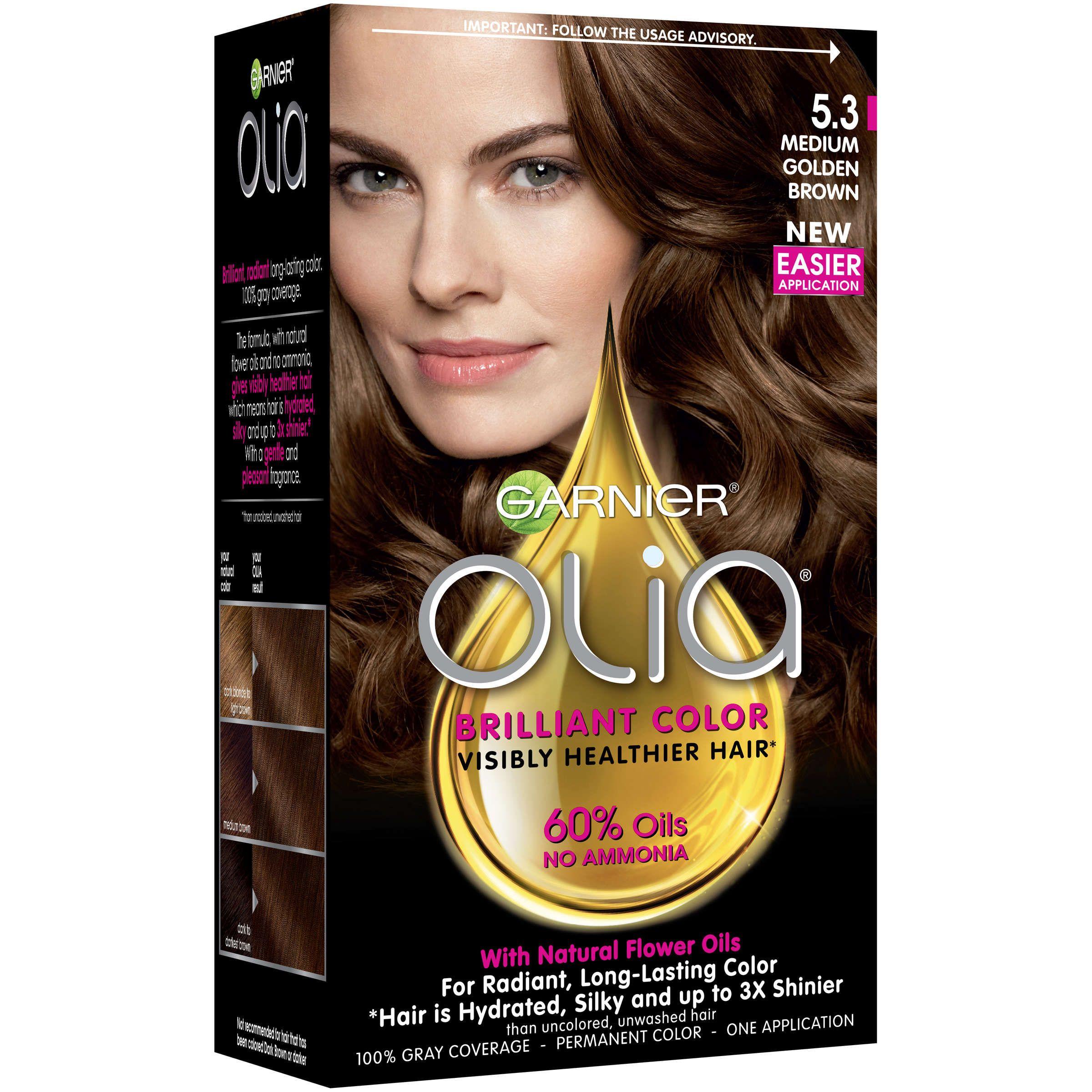 Garnier Olia Oil Powered Permanent Hair Color 6 0 Light Brown Powered Permanent Oil Hoeden