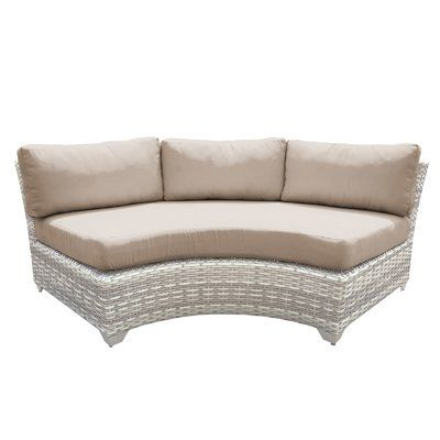 Sol 72 Outdoor Falmouth Patio Sofa With Cushions Cushion Colour