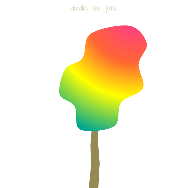 """rainbow tree from """"Fall Standouts"""""""