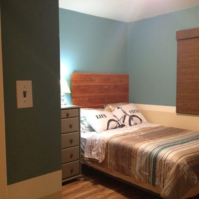 Home Made Head Board khael's room make over headboard new paint new floor boys room