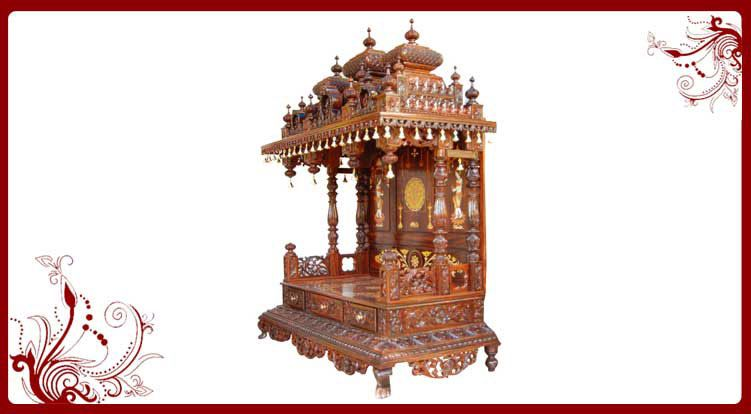 Famous Small Wooden Temple Design For Home Ideas - Home Decorating ...