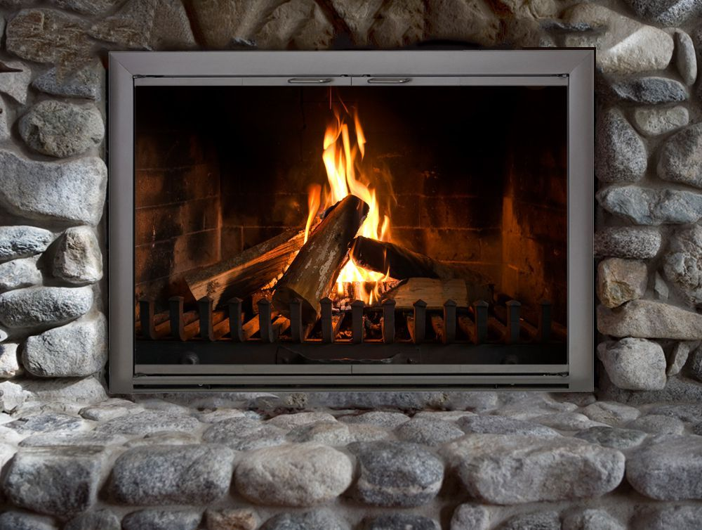 The Brookfield Fireplace Door Is One Of Our Best Sellers Perfect For Both Indoor And Outdoor Use This Fireplace Glass Doors Fireplace Doors Masonry Fireplace
