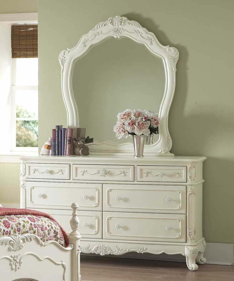 Colorful dresser. I like this chest of drawers because it has a mirror and it makes