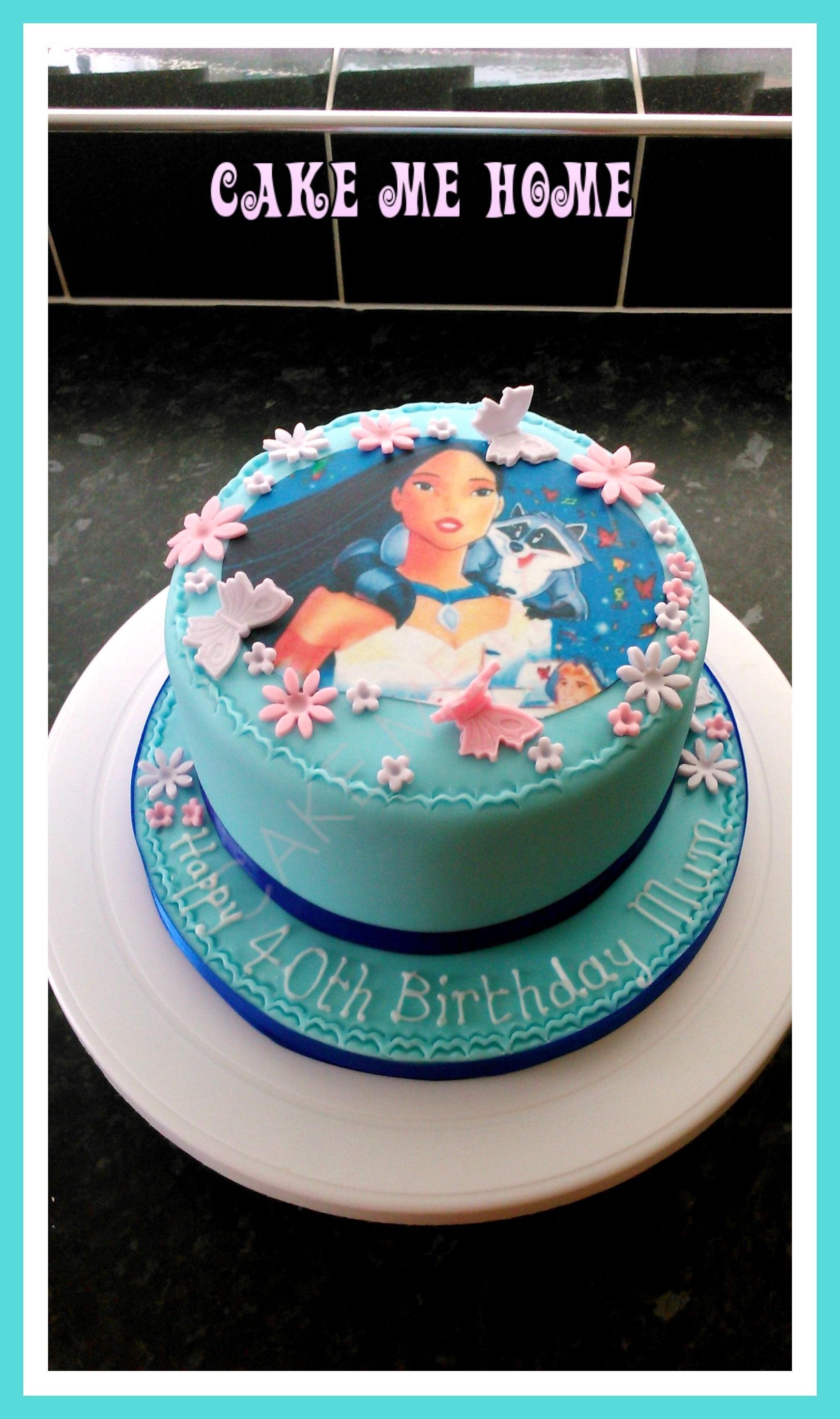 Astonishing Pocahontas Cake Pocahontas Cake Disney Birthday Cakes Birthday Personalised Birthday Cards Cominlily Jamesorg