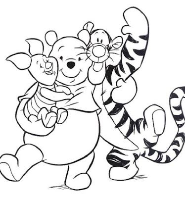 Piglet, Pooh & Tigger | all Pooh | Disney coloring pages, Coloring ...