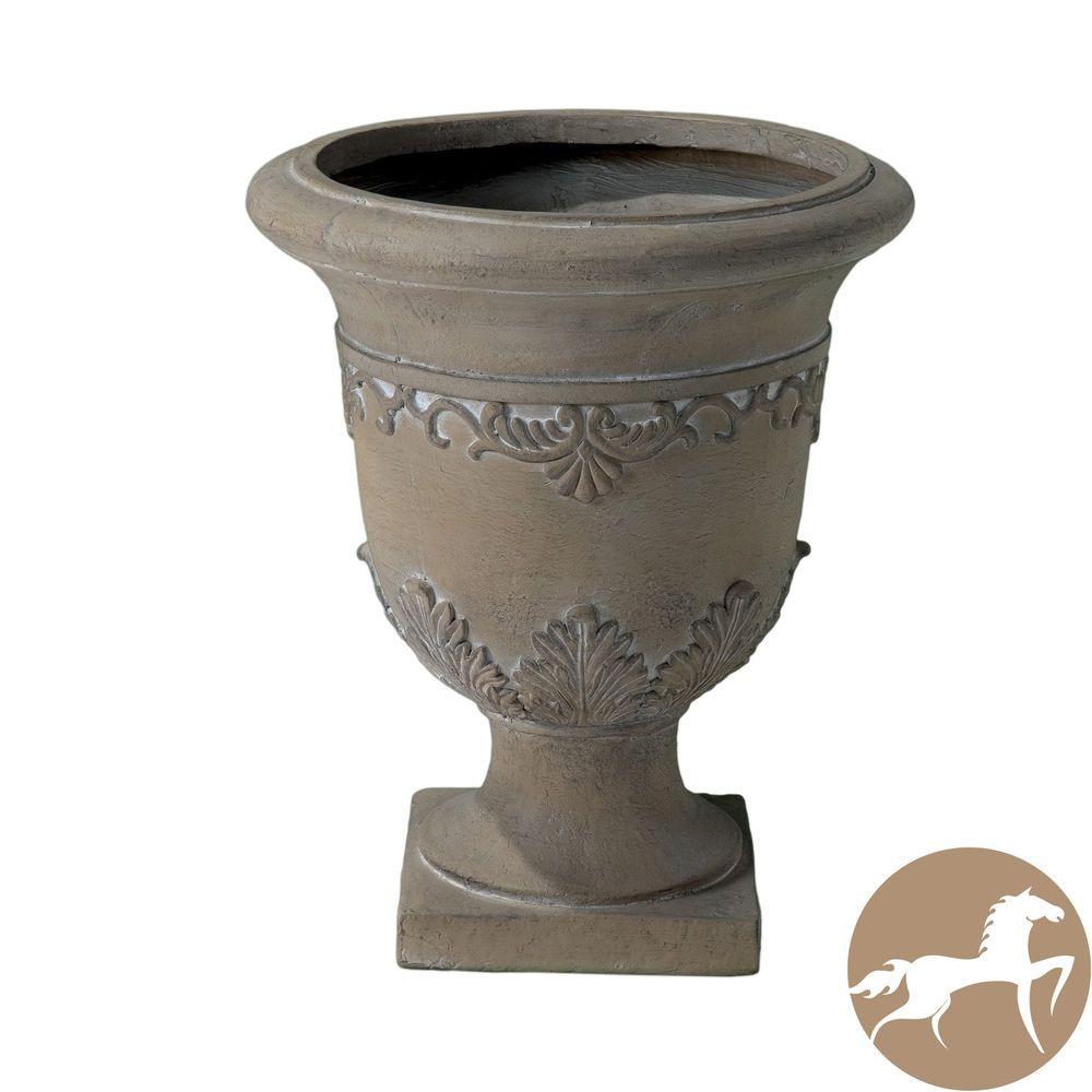 Moroccan Antique Green Stone Urn Garden Planter Flower Pot Yard Planters Stone Planters Urn Planters Moroccan Antique