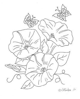 Freebie Morning Glory Digi Stamp Stamping Morning Glory Tattoo Flower Drawing Morning Glory Flowers