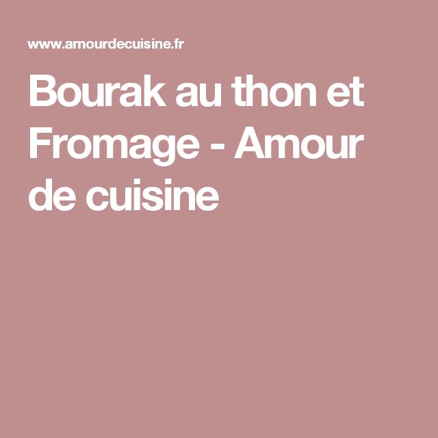Bourak au thon et Fromage - Amour de cuisine