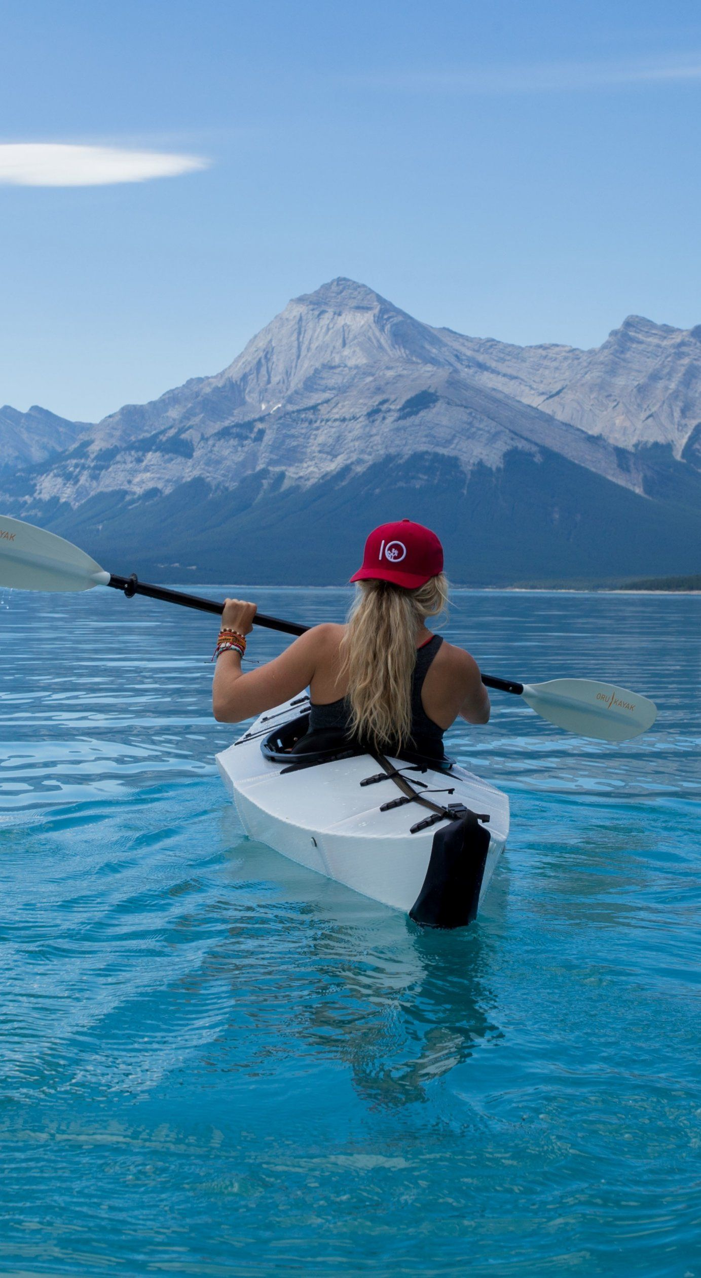 Girl Kayak Canoe Kayaking Travel Canoe