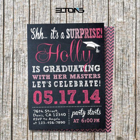 Graduation Invitation Surprise Party Invitation Graduation Party