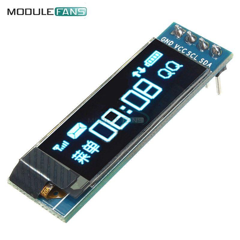 0 91 Pollice 128x32 Display Lcd Modulo Seriale I2c Iic Blu