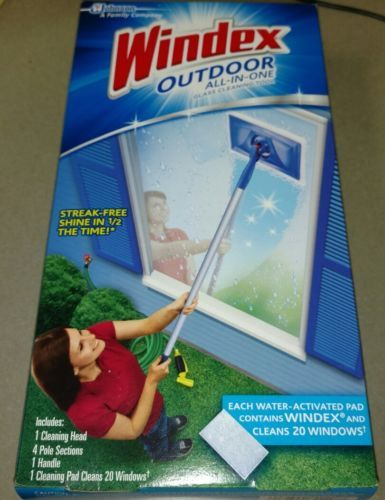 Buy Windex Outdoor Window All In One 1 Glass Cleaning Tool New Unopened At  Online Store