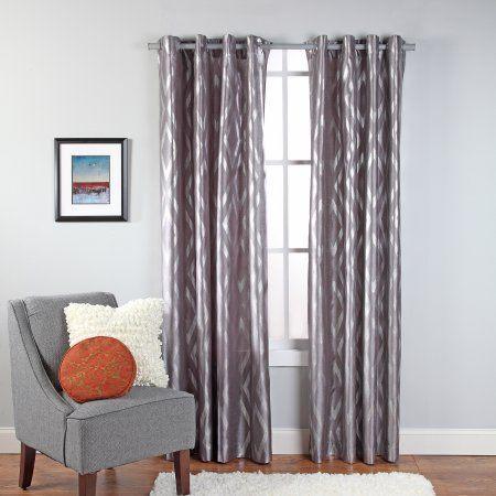 Stanton Metallic Print Grommet Window Panel