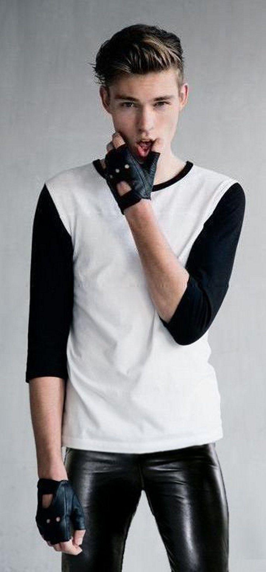 Sexy Schwarz Teen Weiß Guy