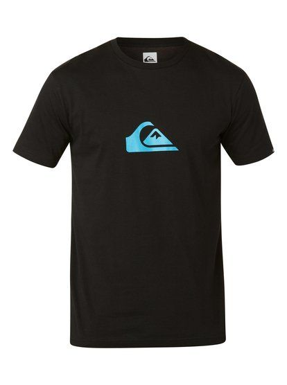 quiksilver, Ss Logo Bright A1, BLACK/NEON BLUE (xkkb)