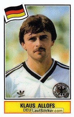 KLAUS ALLOFS 1984 GERMANIA OVEST (avec images)