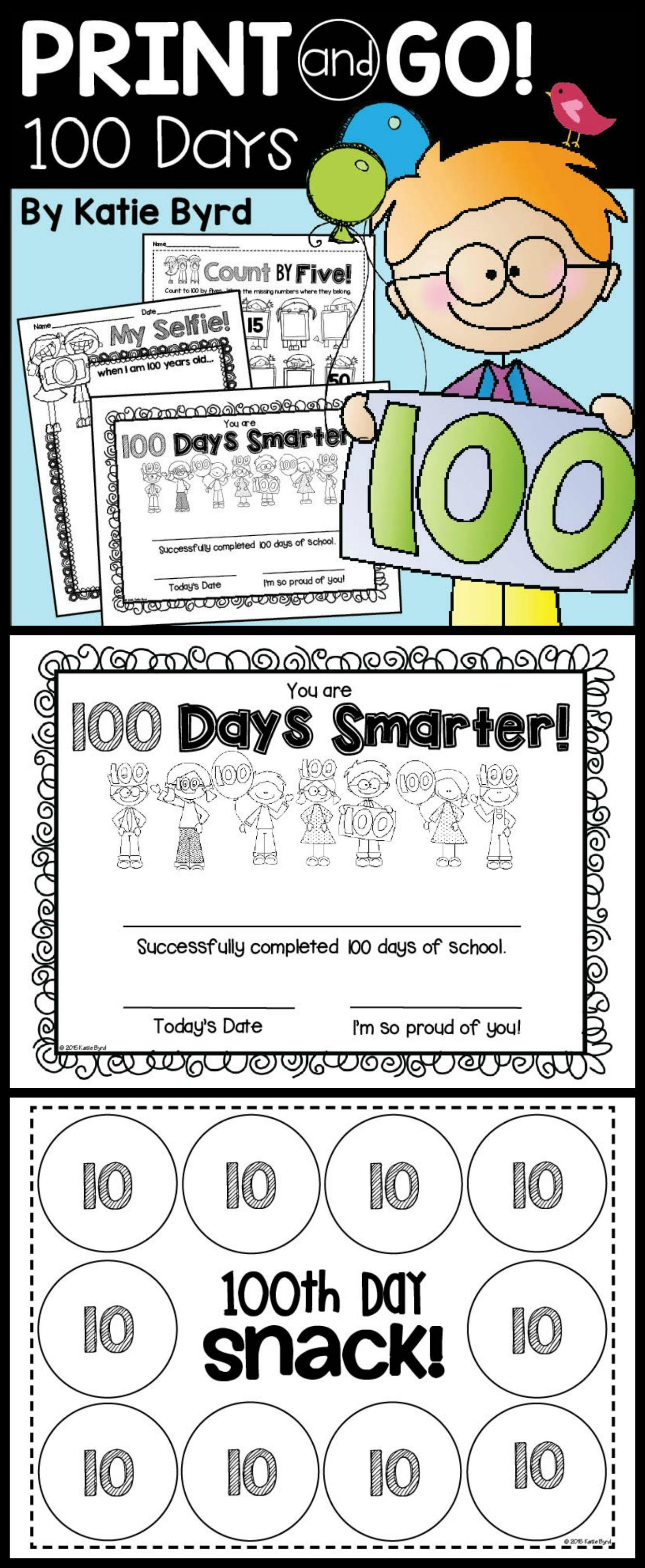 Everything You Need For A Fun Filled 100th Day Of School